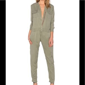 Etienne Marcel Long Sleeve Jumpsuit in Military
